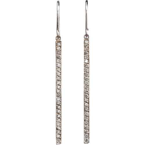 Jennifer Meyer Diamond Stick Earrings at Barneys.com