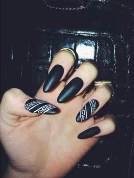 Black And White Fade Nails Nail Polish Black And White