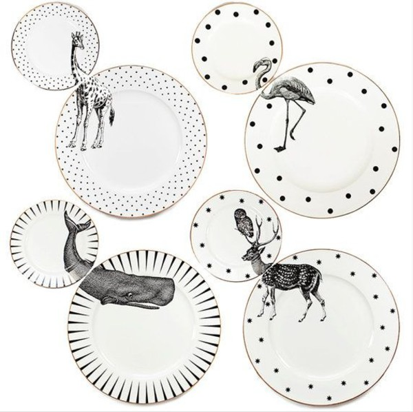 home accessory animal deer flamingo polka dots dinnerware valentines day gift idea sea creatures