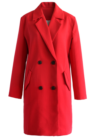 coat be classy double-breasted blazer in ruby ruby blazer double breasted chicwish
