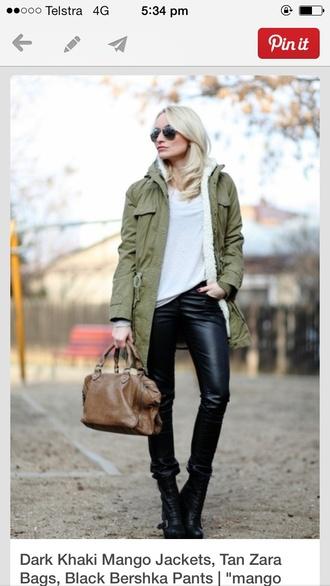 coat khaki