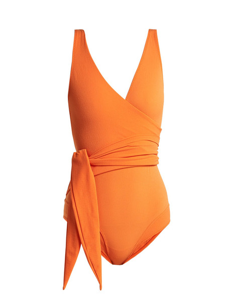 orange swimwear