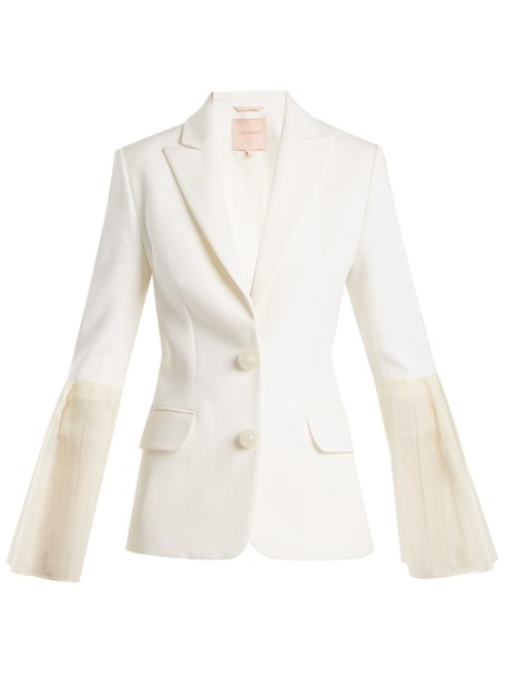 blazer silk jacket