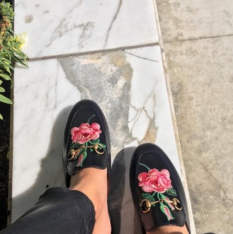 shoes rose slip on shoes loafers gucci