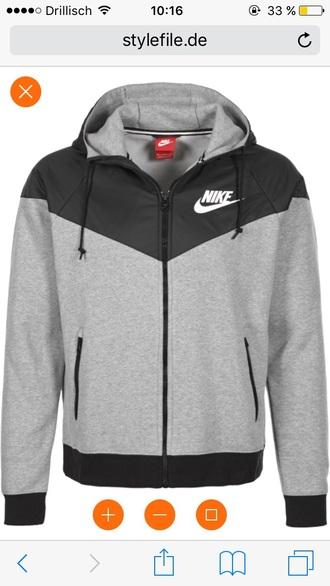 jacket nike wind runner grey black