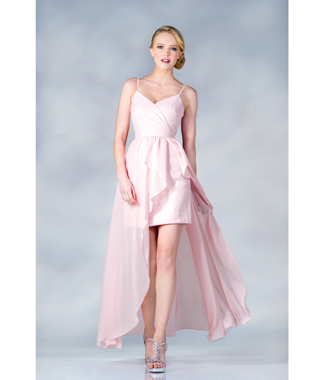 2013 Prom Dresses- Baby Pink High-Low Chiffon Prom Dress - Unique ...