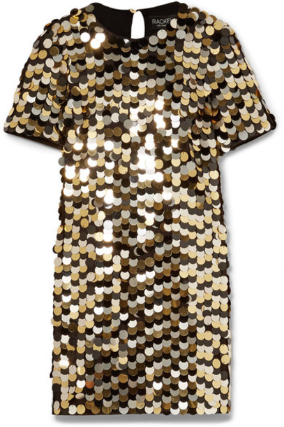 Rachel Zoe dress mini dress mini gold cotton