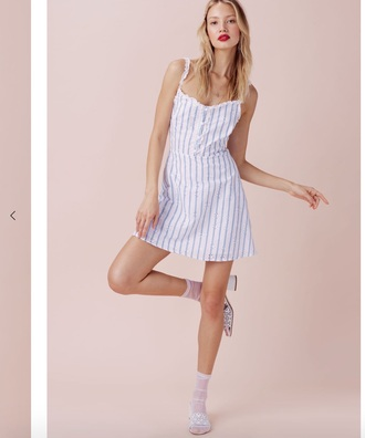 dress blue and white striped blue and white