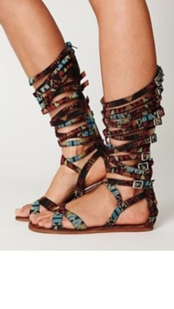 5d599d4e7f4 shoes tribal gladiator sandals boho