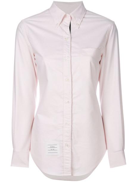Thom Browne shirt women fit cotton purple pink top