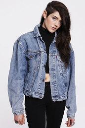 denim vintage levis,jeans,jacket
