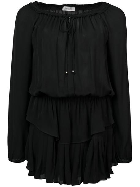Love Shack Fancy dress women black silk