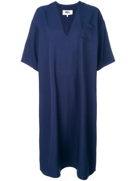 Mm6 Maison Margiela dress oversized women blue