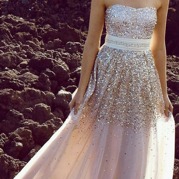 gold prom dress sparkly dress sparkles long dress long prom dress sleeveless dress silver