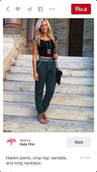 pants green pants harem pants