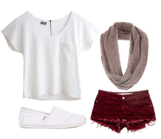 scarf outfit ideas red white sporty