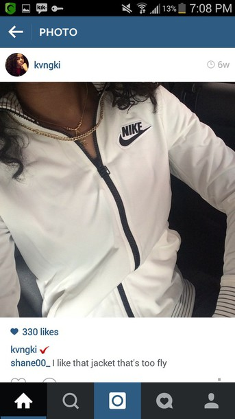 jacket nike air nike jacket black and white