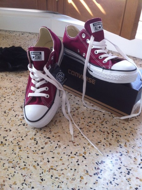 shoes converse boordo rood sneakers