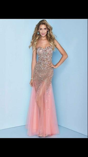 dress pink prom dress prom dress pink dimond