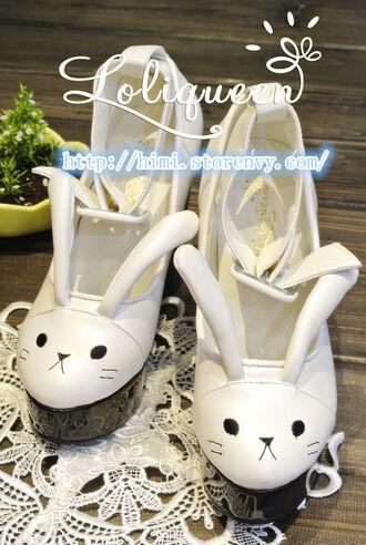 bunny bunny shoes bunny rabbit bunnies bunny ears kawaii asian fashion japanese fashion tokyo fashion harajuku cfashion chinese fashion kfashion korean fashion pastel shoes kawaii shoes lolita lolita shoes anime anime fashion pastel platforms