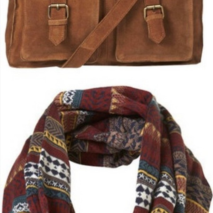 bag echarpe tube navajo bordeaux marron ethnic print scarf red