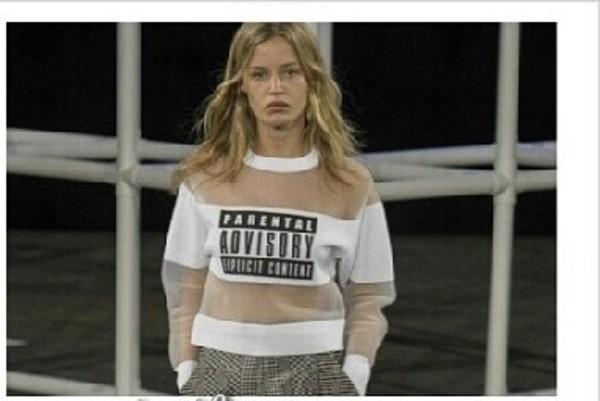 blouse white sheer shirt sheer blouse parental advisory explicit content