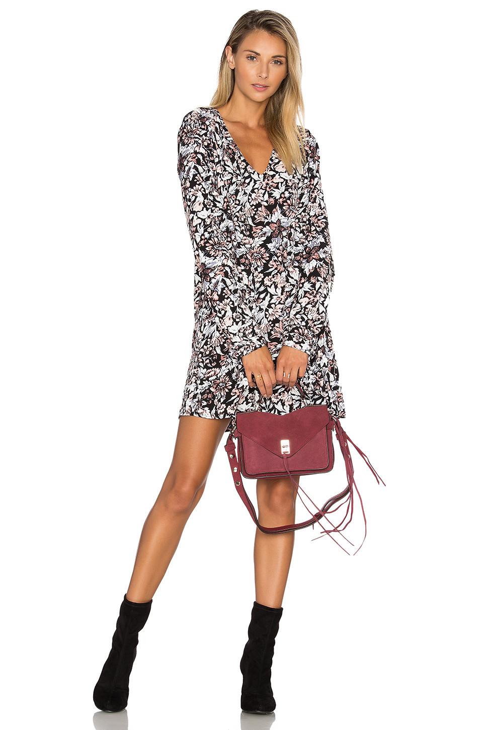 The Fifth Label Anytime Anywhere Long Sleeve Dress in black