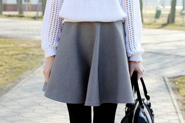 beauty fashion shopping skirt sweater bag shoes