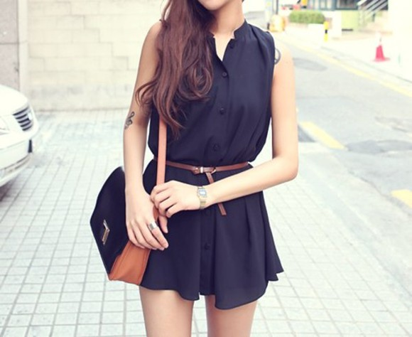 lovely fashion dress summer dress black dresses cute dress dress bag hot dress blue dress