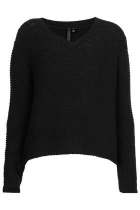 Clean V Jumper by Boutique - Boutique  - Clothing  - Topshop