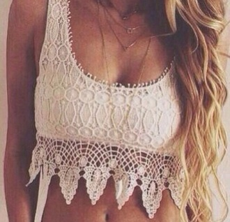 shirt style fashion brown dress crop tops crochet crop top lace dress