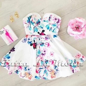 dress pink dress white dress floral dress fashion fashion dress hat hair accessory