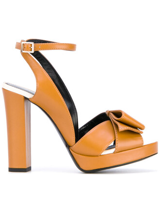 strappy women sandals strappy sandals leather yellow orange shoes