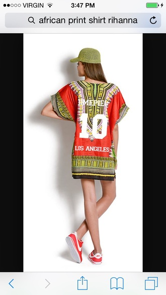 top rihanna shirt african print dashiki