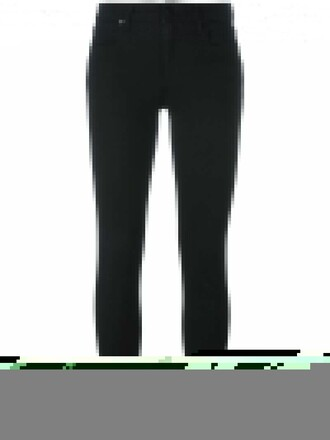 jeans skinny jeans cropped women cotton black