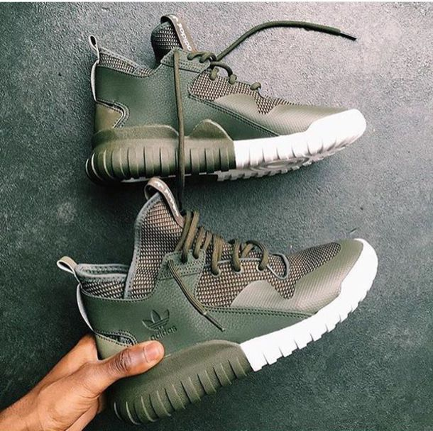 Adidas Tubular Olive Green And Pink