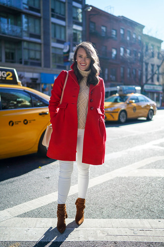 covering bases curvy blogger coat sweater jeans shoes hat jewels