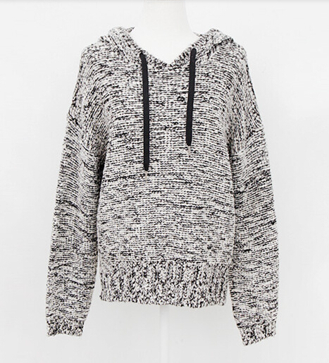 Heather grey knit hoodie from doublelw on storenvy