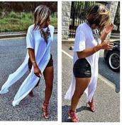 t dress,fashion dress,maxi dress,slit dress,sexy dress,cotton dress..,high split dress