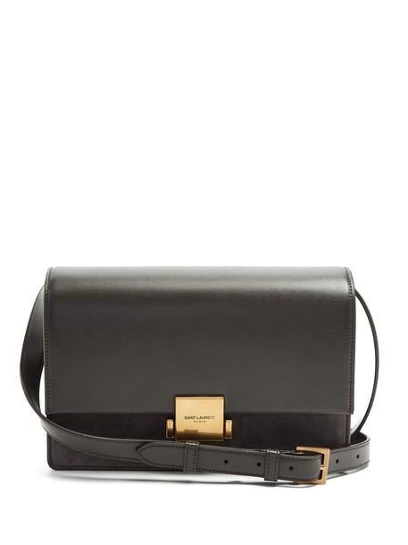 Saint Laurent bag suede bag leather suede dark grey