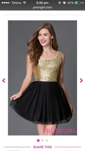 dress prom black gold homecoming