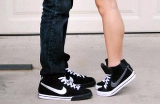 shoes nike black girl