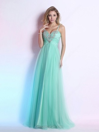 dress girly gown mint feminine formal classy homecoming dress dressofgirl