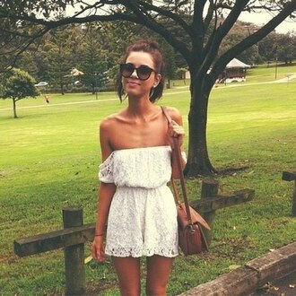 dress lace dress boho indie white dress cute lace short dress beautiful simple crochet hippie gypsy bag celebrities
