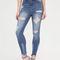 Take a bite destroyed skinny jeans blue - gojane.com