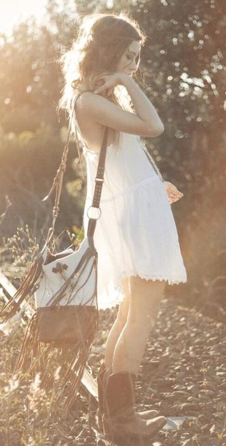 bag boho hipster hippie boho gypsy boho style summer dress