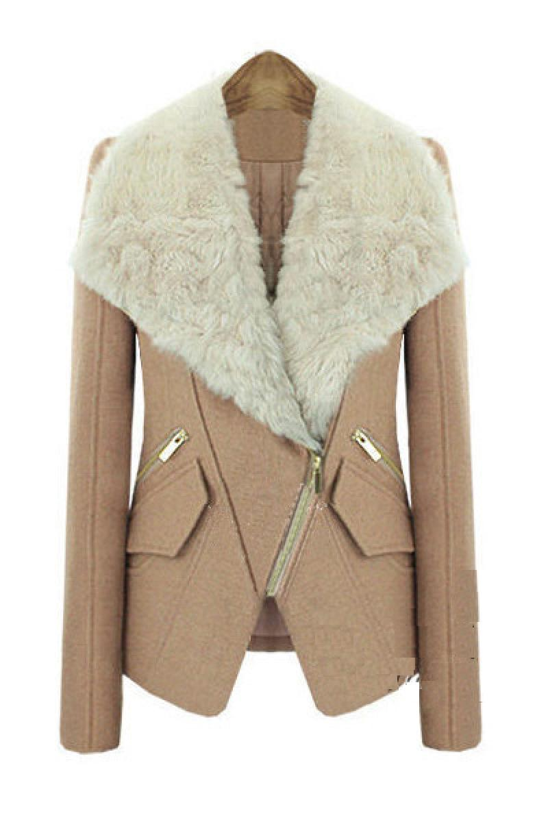 Winter New Short Fur Collar Woolen Overcoat,Cheap in Wendybox.com