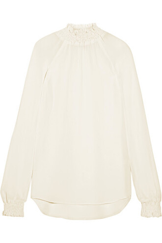 blouse white off-white top