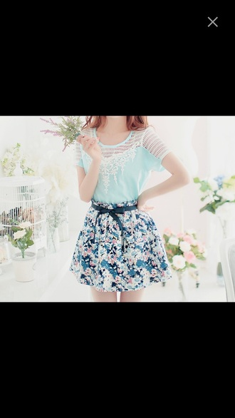 skirt floral skirt cool skirt awesome style cool fashion