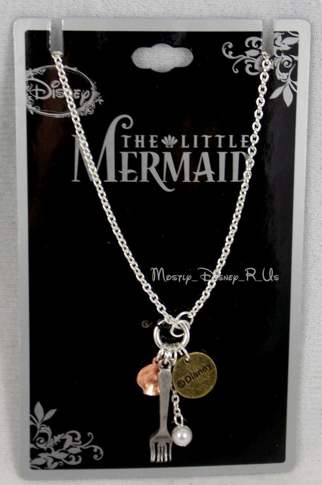 Disney ariel the little mermaid part of your world charm pendant necklace nwt
